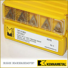 TCMT 16T308LF KC9125 KENNAMETAL *** 10 INSERTS *** FACTORY PACK *** 3252