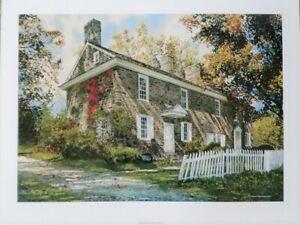 Thompson Neely House Bucks Print Pennsylvania George Washington Historic Stone