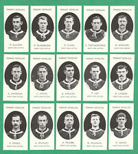 FOOTBALL  -  TADDY  WEST  HAM  UNITED  FOOTBALLERS - SET OF 15 CARDS - REPRINTS