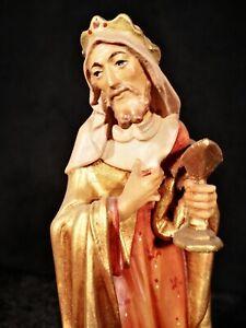 """Kostner Krippe Figur """" König Balthasar """" 25 cm - Holz geschnitzt - bemalt"""