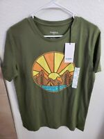 Goodfellow & Co Classic Fit Sunset Lake Orchid Leaf Men's T-Shirt M(38Chest/26L)