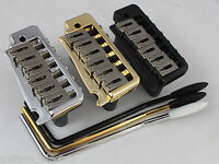 WILKINSON WVP TREMOLO BRIDGE, Stainless Steel Saddles in Chrome, Black or Gold