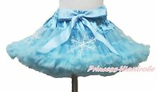 Adult Woman Girl Princess Elsa Blue Snowflake Pageant Full Pettiskirt Party Tutu