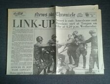 News Chronicle Newspaper-Apr 28 1945 Russians and Americans Met Torbay on Elbe.