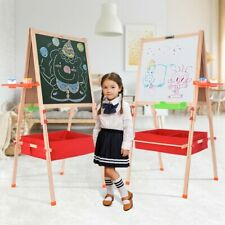 Deluxe Lifting Child Easel, Foldable Wooden Art Easel ,Storage Bag And Tray