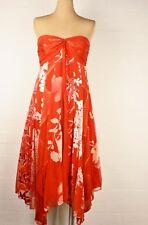 Monsoon NWOT Red Silk Sequinned Bustier Dress Sz 14