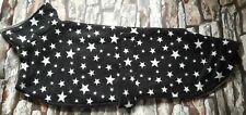 greyhound  dog fleece coat 26inch 66cm black with stars double layer