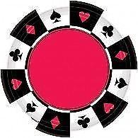 Party Teller / Pappteller Einwegteller Casino Themenparty Deko Tischdeko Party