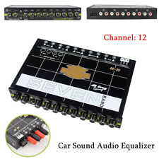 7 Band Car Audio Graphic Equalizer Stereo Tuner EQ with Front, Rear + Sub Output