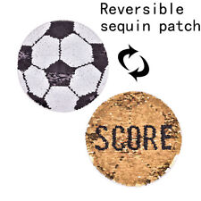 football reversible change color sequins sew patches DIY applique for clothes BR