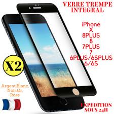 LOT2 iPhone X/8/+/7/6 VITRE TREMPE VERRE 3D FILM PROTECTION ECRAN INTEGRAL TOTAL