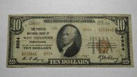 $10 1929 West Alexander Pennsylvania PA National Currency Bank Note Bill #8954