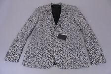 "ASOS Men's Long Leopard Print Skinny Blazer SC4 White Size 42"" Chest NWT"