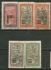 Madagascar Scott #130-134 ( ) Mh-Mng 1921