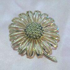 Vintage Large Gold Tone Flower Brooch