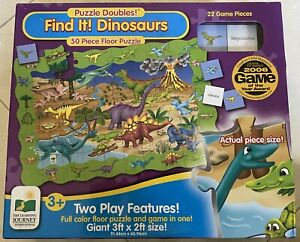 LEARNING JOURNEY FIND IT! DINOSAURS PUZZLE + GAME EDUCATIONAL FLOOR PUZZLE+ AME