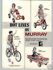 1967 PAPER AD Murray Pedal Car Fire Ball Race Racer Station Wagon High Rise Bike
