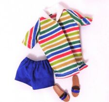 ALLAN DOLL 1964 ORIGINAL STRIPED TERRY & BLUE SWIMSUIT REPRODUCTION_New DeBoxed