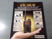 Yaesu VX3 R/E producto de doble cara de una sola página folleto Original