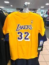 Youth Los Angeles Lakers Magic Johnson Adidas Yellow Jersey T-Shirt