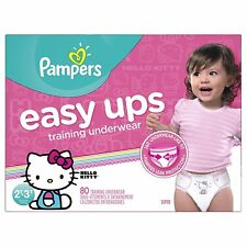 Pampers Easy Ups Training Underwear Girls 2T-3T (Size 4), 80 Count -- Packaging