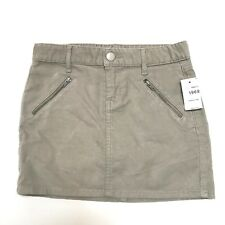 233bc094c Gap 1969 Skirt Corduroy Girls Size 8 Khaki Ash Zipper Pockets Back to  School BTS