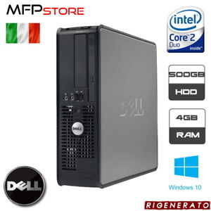 PC COMPUTER RIGENERATO DELL OPTIPLEX 780 INTEL CORE 2 DUO 4GB 500GB HDD WIN 10