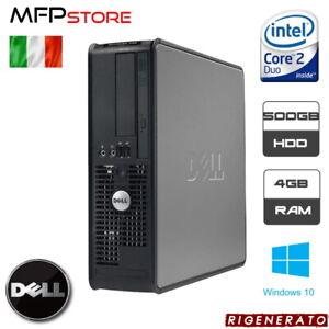 PC COMPUTER RIGENERATO DELL OPTIPLEX 760 INTEL CORE 2 DUO 4GB 500GB HDD WIN 10