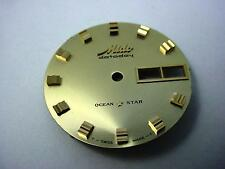 Datoday Ocean Star Mido Vintage Watch Dial Gold 29.25mm Day Date Window NOS