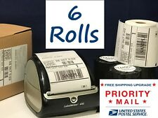 DYMO Shipping Labels 6 Rolls 1744907 compatible for 4XL thermal printer 220/roll
