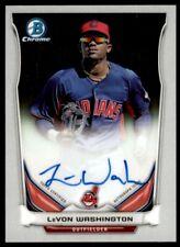 2014 Bowman Prospect Autographs Levon Washington Auto Cleveland Indians #PA-LW