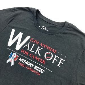 Anthony Rizzo Foundation Men's Cancer Walk Off Short Sleeve T-Shirt Gray • XL