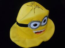 Despicable Me Minion Jorge Soft Plush Cosplay Hat Tall Yellow
