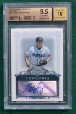 Evan Longoria AUTO rookie card BGS 9.5 Gem Mint  2006 Sterling Rays autograph RC