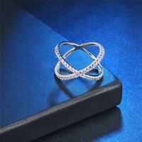 Jewelry Setting Micro Size 6-19 Cross Ring CZ X-shaped