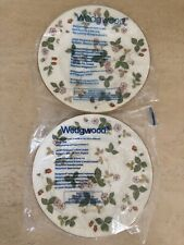 Wedgwood England Bone China Wild Strawberry Salad/Dessert Plates - Set Of 2! NEW