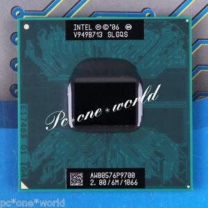 100% OK SLGQS Intel Core 2 Duo P9700 2.8 GHz Dual-Core Notebook Prozessor CPU