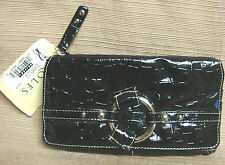 ROLF'S New SHINY BLACK MOC CROC WALLET