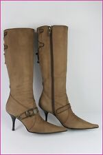 Bottes LUCIANO PADOVAN Tout Cuir Chamois 39,5 IT / 40,5 FR TBE