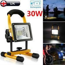 50W LED Rechargeable Cordless Mobile Portable Work Site Flood Light Camping Lamp