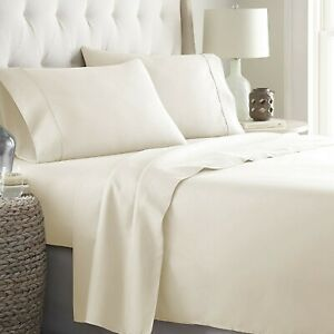 Glorious Bedding Collection Select Item & Deep Pocket US Sizes Ivory Solid