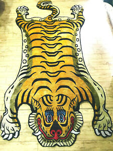 Tibetan Big TIger silk rug