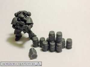 HC3D -Tech Terrain Canisters 10mm- Wargames Miniatures Scenery 40k 28m 15mm