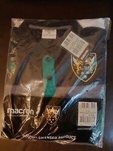 Macron Northampton Saints Rugby Polo Shirt, Size XL, Short Sleeve