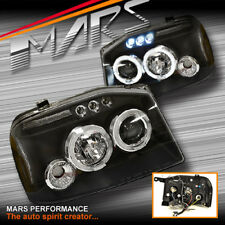 Black Angel-Eyes Projector Head Lights for Nissan Navara D22 03-14 UTE PICK UP