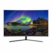 VIOTEK NB27C 27-Inch LED Curved Monitor with Speakers 75Hz 1080P Bezel-Less VA