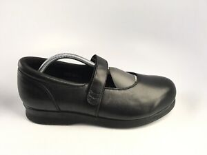Drew Women's Bloom II Mary Jane Black Calf Comfort Black Shoes Size 10.5 W
