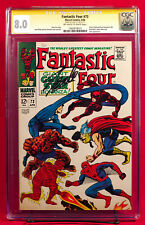 Fantastic Four #73 CGC 8.0 SS VF Very Fine Signed by Stan Lee + Heroes!!! HTF!!!