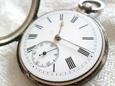 Antique 1901 Charles Horner Sterling Silver Key Wind Fusee Pocket Watch Chester