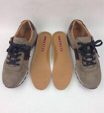 PRADA men Suede & Leather Sneakers sz 8